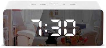 SUNASQ USB Opladen LED Spiegel Klok Grote Display LED Elektrische Wekker voor Thuiskantoor
