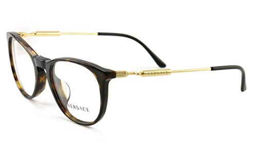 (Versace VE3227A - 108 Eyeglass Frame DARK HAVANA w/Clear Demo Lens)