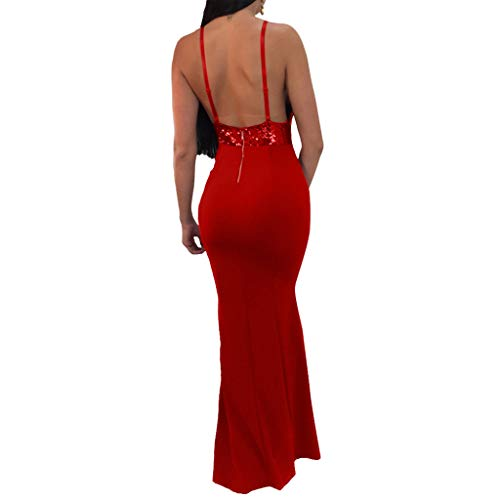 Christmas Dress For Women Party 2019 Sale Formal Prom Ball Gown Sexy Sleeveless Backless Long Dresses ()