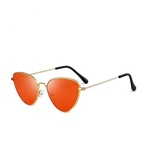 Mujer Vintage Ligero UV400 Sol Gafas Hombre Cat A Estuche de Gafas Red Súper Lente Gafas de Unisex Sol Sol Eye Gafas Retro Fliegend Espejo de para Polarizadas Orange wRXOExq