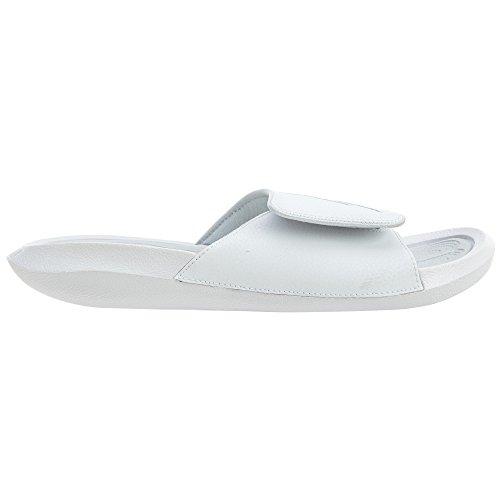 Nike Jordan Heren Hydro 6 Synthetisch Leer Sandalen Wit / Zuiver Platina-zuiver Platina