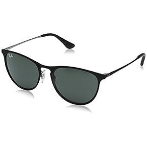 Ray-Ban Kids' RJ9539S 251/71 Non-Polarized Sunglasses, Silver-Black/Green Classic, 48 mm
