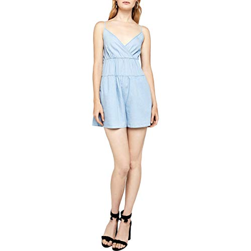 BCBGeneration Women's Tiered Romper, Light wash, XXS from BCBGeneration