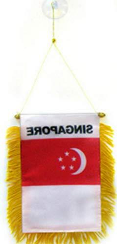 florance jones Singapore Mini Flag 4x6 Window Banner w/Suction Cup   Model FLG - 5272