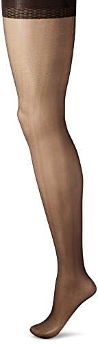 Smoother Sheer Control Top Pantyhose - Curvation Women's Plus Size Tummy Smoother Control Top Ultra Sheer Pantyhose, Off Black, Curvaceous 2 (C2)