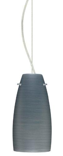 Besa Lighting 1KX-1512TN-LED-SN 1X6W GU24 Tao 10 LED Pendant with Titan Glass, Satin Nickel Finish ()