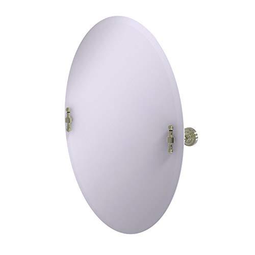 Allied Brass RD-91 Frameless Oval Tilt Beveled Edge Wall Mirror, Polished - Tilt Allied Bathroom Oval Brass Frameless Beveled Mirrors