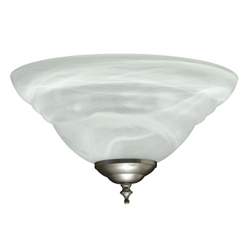 Savoy House FLGC-249-SN Concord 2-Light Fan-Light Kit in Satin Nickel (Concord Bowls Glass)