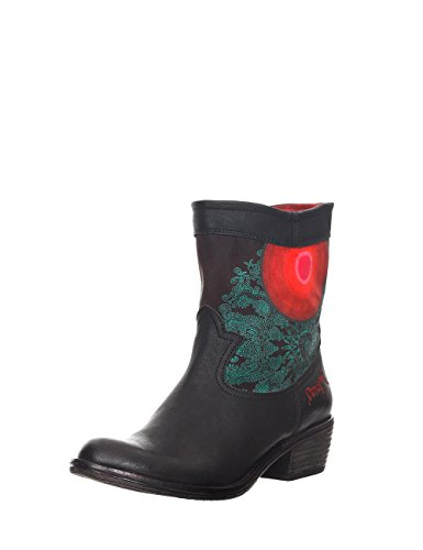 bottines femme Noir Desigual Moon Night cheville Noir EwxPqB