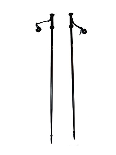 Alpine Downhill ski poles adult black Aluminum with baskets pair New