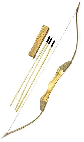[Youth Wooden Bow and Arrows with Quiver] (Bow And Arrow Costume)