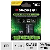 Monster Cable Monster Digital 16GB SDHC Micro SD Memory C...