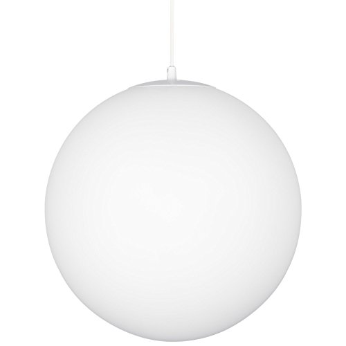 Kira Home Ceres 8 Mid-Century Modern Hanging Orb Pendant Light with Smooth Matte White Frosted Diffuser, White Finish