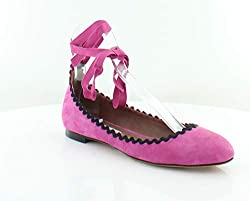 Tabitha Simmons Daria Women S Flats Oxfords Fuxia Kidsuede Blk R Size 10 M