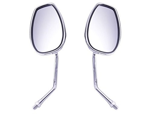 Reflector Mirror Polished Aluminum (2 X Motorcycle Motorbike Outside Rear View Left & Right Side View Mirrors Fit For KWASAKI VN900 VN800 VN400 VN250 Vulcan)