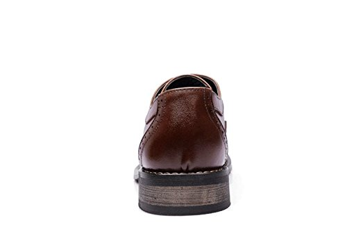 EU 39 Uomo Punk Nero Scarpe Stringate Brown Nero Family 5 4TYfFT8
