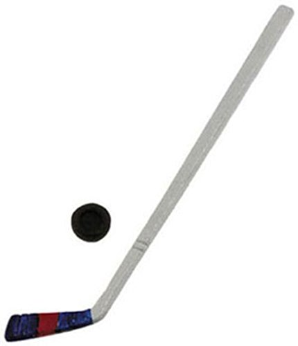 Dollhouse Miniature Hockey Stick w/Puck by International Miniatures
