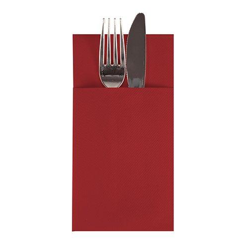 Linen-feel Cloth-like Paper Cutlery Pocket Napkin Sleeve | Disposable | 1/6 fold | 16