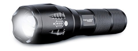 TacLight T1100 Extreme Performance Military Grade Water Resistant Tactical Flashlight w/Rechargeable Lithium Battery, 1100 Lumens, 5 Modes & Zoom. Powered w/USA-Made LED in Aircraft-Grade Aluminum