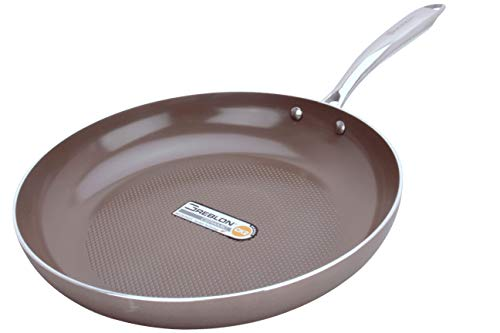 WaxonWare 8.5 & 12 Inch Ceramic Nonstick Frying Pans, Non Toxic PTFE APEO PFOA Free Nonstick Skillets, Induction Compatible, Dishwasher & Oven Safe Omelette Fry Pan With German Coating (HIVE Series) by WaxonWare (Image #1)