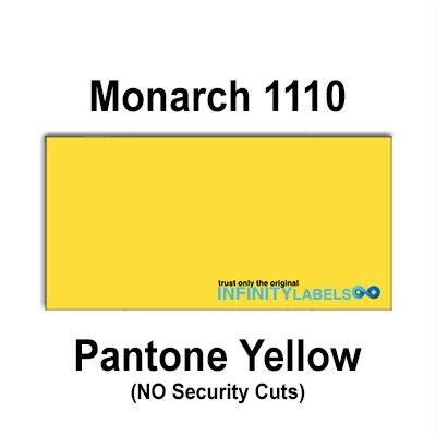 255,000 Monarch 1110 Compatible Pantone Yellow General Purpose Labels for Monarch 1110 Price Guns. Full Case + 15 Ink Rollers. NO Security cuts.