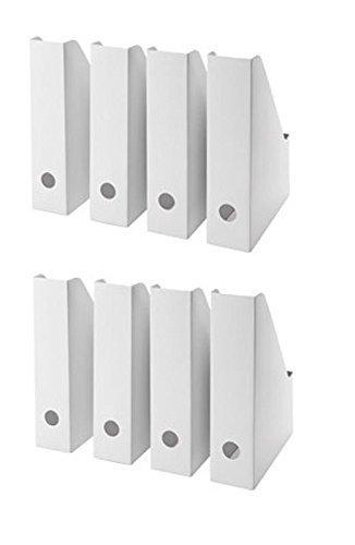 Contenitori Per Documenti Ufficio.Ikea Bianco Magazine File Fluns Organiser Per Documenti Contenitore Porta Organizer Da Scrivania Con Uscita Confezione Da 8