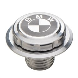 Fuel Tank Gas Cap Polished Metal Compatible with Vintage Boxer Cafe-Racer BMW R Airhead Motorcycle by EnDuraLast