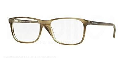 ede77605ee5 Image Unavailable. Image not available for. Color  Burberry Eyeglasses  BE2178 3488 Striped Green 55 17 140