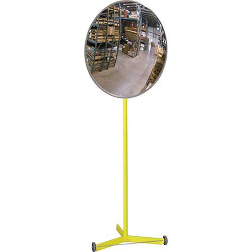 Acrylic Indoor Convex Mirror with Portable Metal Stand, 18'' Diameter