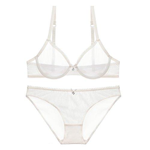 b05cfd92e Varsbaby Women See-through Lace Push Up Transparent Everyday Bra Lingerie  sets. Burvogue ...
