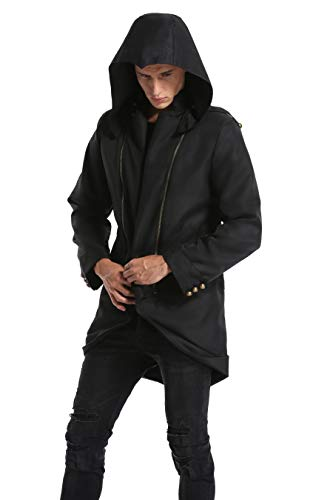 BuyChic Cosplay Costume Hoodie/Jacket/Coat-9 Options for The Fans Black,Men X-Large