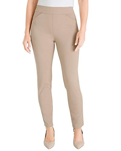 Chico's Women's Travelers Collection Crepe Pants Size 0/2 XS (00 REG) Tan ()