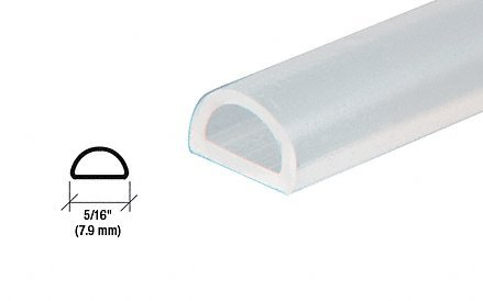 CRL Translucent Silicone Bulb Seal - 95 in long - 5 Pack
