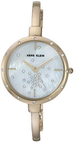 Anne Klein Women's AK/3274 Swarovski Crystal Accented Watch and Bracelet Set