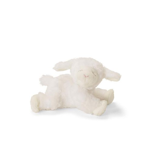 Baby GUND Winky Lamb Stuffed Animal Plush Rattle, White