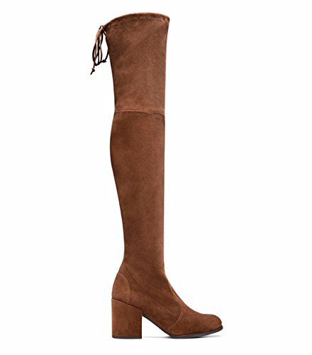round fashion Autumn Brown winter stilettos Boots women's and shoes Suede YWYSO7RP