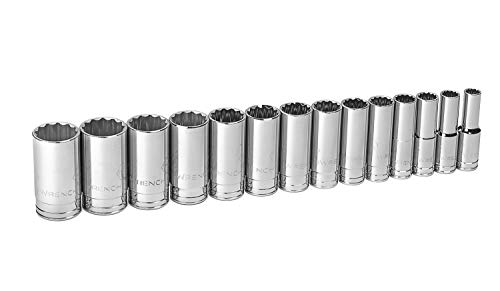 - GEARWRENCH  80732 1/2-Inch Drive SAE Deep 12 Point Socket Set, 14-Piece