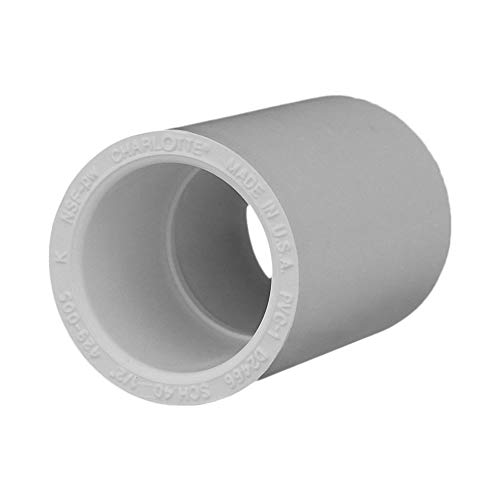 Charlotte Pipe 1/2 SCH 40 Coupling Sxs Contractor Pack PVC Pressure (10 Unit Pack)
