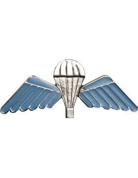 NS-962 Australian Parachutist Wings (Nickel with Blue Wings) NO SHINE (Wings Parachutist)