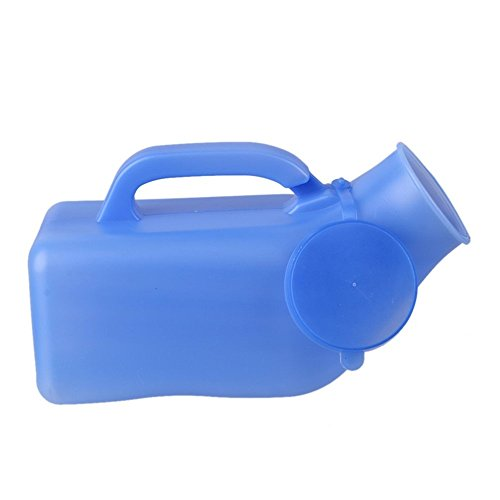 Plucky Urinal for Men 1200 ML,Toilet Urinal for Men with a lid,Potty Urinal for Car, Bedpans Pee Bottle,Old Man, Child and Diabetes for Camping Car Outdoor Travel (Pan Sealing Lid)