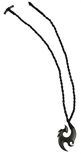 Bico Tuli Pendentif Noué Dans Un Cordon De Coton Tissé A La Main (SR20) - l'oiMeru messager - Tribal Île Bijoux