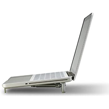 "Ergonomic Aluminium Portable Foldable Cooling X-Stand for 12""-17"" Laptops, Notebook PC, MacBook"