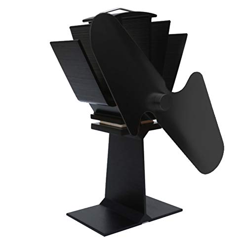 Stove Fan Maserfaliw Large Airflow 2 Blades Heat Powered Gas Wood Log Burner Home Fireplace Stove Fan - Black, Home Life, Office, Holiday Gifts. from Maserfaliw