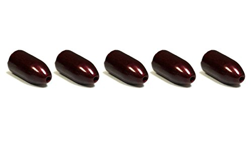 Interwebz 5 Pack 3/4 oz Tungsten Red Bullet Worm Weight for Bass Fishing Pitching and Flipping Sinker
