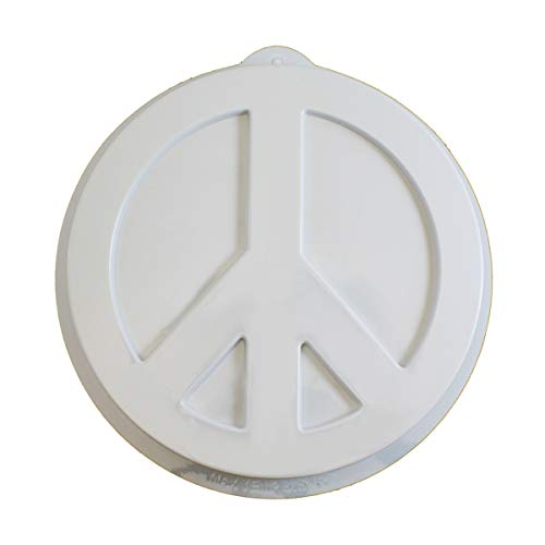 CK Products 49-9403 Plastic Peace Sign Cake Pan, White