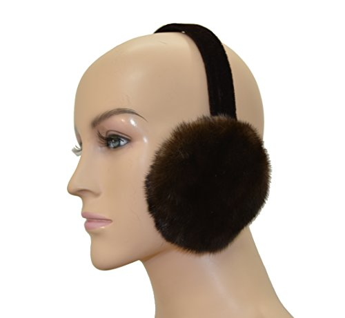 Mink Fur Ear Muff (Brown)