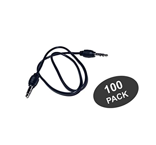 SeattleTech AUX Cable 20 inch .5 Meters 3.5 mm Stereo Auxiliary Cable Male to Male for iPhone iPod Samsung Android Smartphones & More - Black (100 ()
