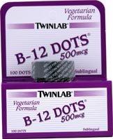 B-12 Dots Sublingual Lozenge Twinlab, Inc 100 Lozenge - Dots Sublingual B-12