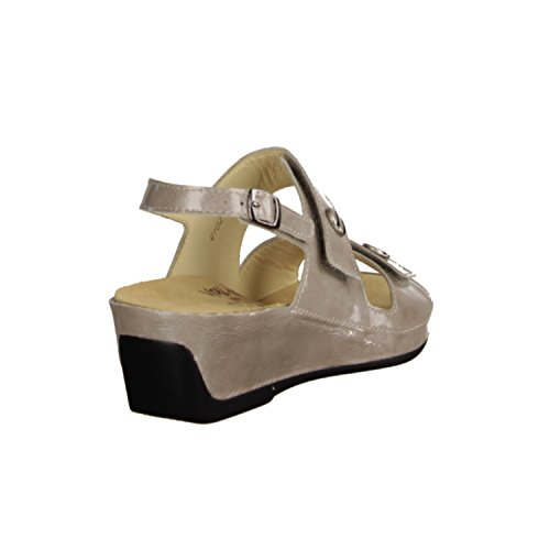 Vital 4102-3196- Damenschuhe Sandale bequem / lose Einlage, Beige, lackleder