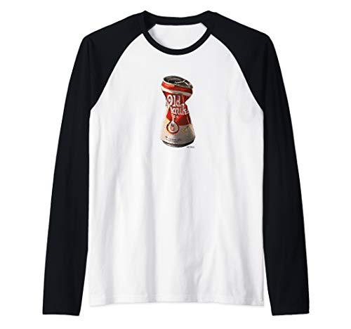 Old Crushed Beer Can Milwaukee t-shirt Raglan Baseball Tee